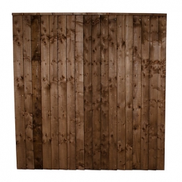 Forest Garden Contractor Pressure Treated Fence Panel Brown 1830mm X 1520mm