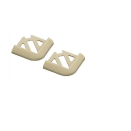 Homelux Tile Trim Corner Piece Soft Cream 6mm 2 Pack Hpcs2scr