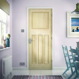 Softwood Dx Vertical Grained Clear Pine Internal Door 1981mm X 610mm X 35mm