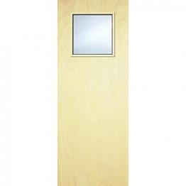 Internal Flush Pwd Paint Grade Fd30 Fire Door 1g Glazed Georgian 1981mm X 838mm X 44mm