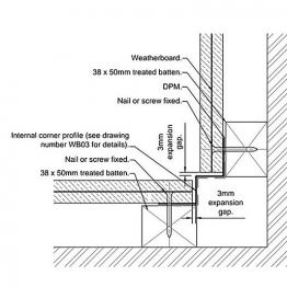 Cedral Internal Corner L=3m Alu C06 Grey Green