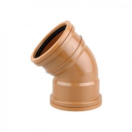 Osmadrain Drainage Double Socket Short Radius Bend 45degree 110mm