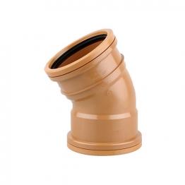 Osmadrain Drainage Double Socket Short Radius Bend 30degree 110mm