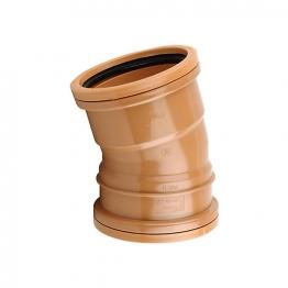 Osmadrain Drainage Double Socket Short Radius Bend 15degree 110mm