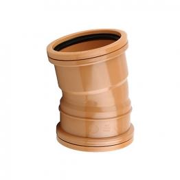 Osmadrain Drainage Double Socket Short Radius Bend 11.25degree 110mm