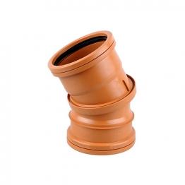 Osmadrain Drainage Double Socket Adjustable Bend 0-30degree 110mm