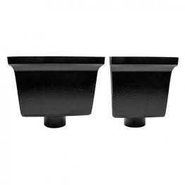 Alutec Flush-fit 76mm Hopper Heritage Black