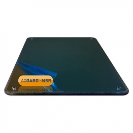 Axgard Msr Mirror Glazing Sheet 6mm 360 X 2000mm With Quarter Round Cnc Edge, Radius Corners & Corner Holes