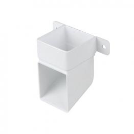 Osma 4t832w Squareline Pipe Shoe & Bracket White