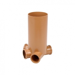 Osmadrain Drainage Shallow Inspection Chamber 250mm Diameter 600mm Invert By 110mm Inlets