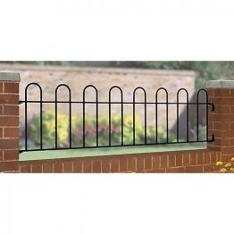 Burbage Cr03 Court Hoop Top Metal Black Railing Panel 492mm X 1830mm