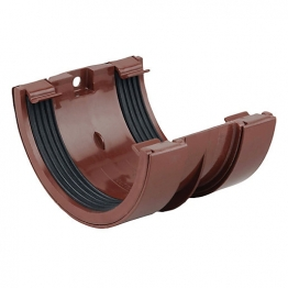 Osma Roundline 0t005 Gutter Jointing Bracket 112mm Brown