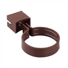 Osma Roundline 0t033 Pipe Or Socket Bracket 68mm Brown