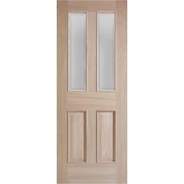 Moulded Oak Devon 4 Panel Raised Mouldings Glazed Internal Door 1981mm X 686mm X 35mm