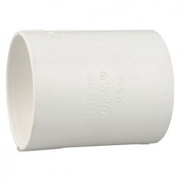 Osma Pvc-c 50mm Solvent Weld Waste Double Socket 2m104 White