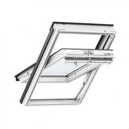 Velux Centre Pivot Roof Window 660mm X 1180mm White Polyurethane Ggu Fk06 0060