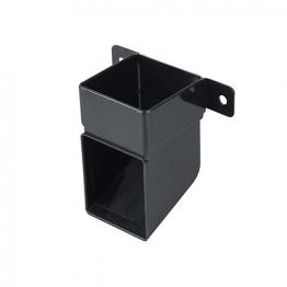 Osma Squareline 4t832 Pipe Shoe And Bracket 61mm Black