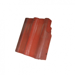 Redland Double Roman Right Hand Cloaked Verge Rustic Red Roofing Tile