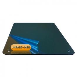 Axgard Msr Mirror Glazing Sheet 3mm 490 X 320mm With Quarter Round Cnc Edge, Radius Corners & Corner Holes