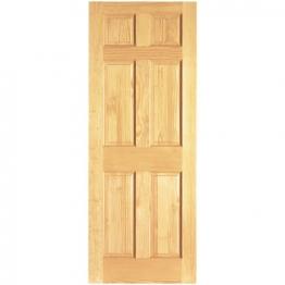Clear Pine Colonial 6 Panel Fd30 Internal Fire Door 1981mm X 838mm X 44mm