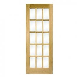 Hardwood Oak Sa77 15 Light Glazed Internal Door 1981mm X 838mm X 35mm
